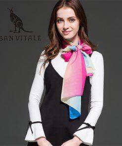 Scarves Women Silk Scarf Sunflower Poncho Headscarf Crinkle Hijab Long Chiffon Designer Twill Fashion Cotton 2018 New Spring