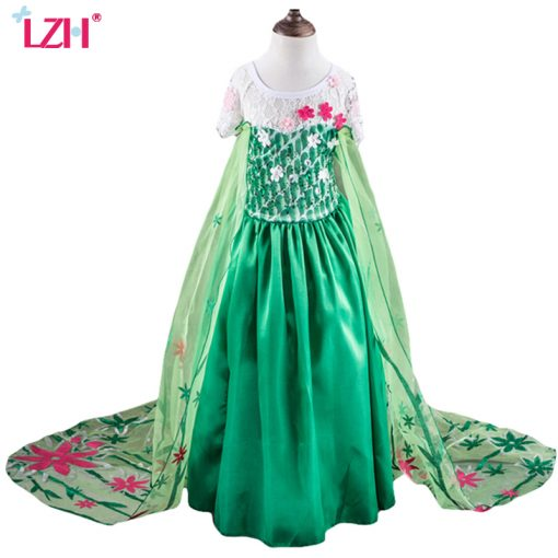 LZH Elsa Dress For Girls Cinderella Dress Girls Party Dresses Easter Carnival Costume For Girls Princess Dress Kids Clothing 4