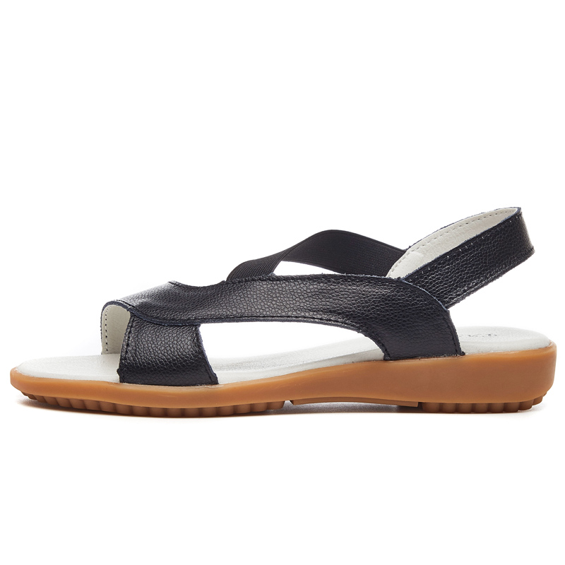 O16U Women gladiator sandals summer Shoes genuine leather flat sandals ankle strap beach sandals Low Heels ladies Rome sandals 1