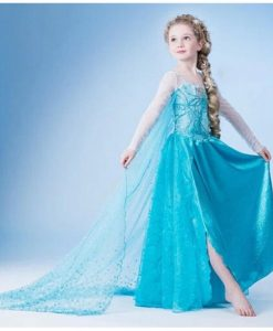 CNJiaYun Girls Dress Cartoon Cosplay Snow Queen Princess Dresses Elsa Dresses Anna Costume Baby Children Clothes Kids Clothing 1