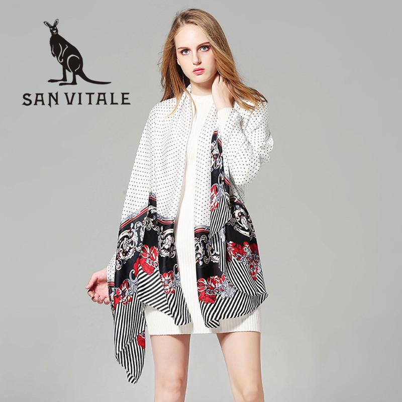 Scarves Women Silk Scarf Square Head Scarf Leopard Print Chiffon Beach Dress Designer Twill Fashion Cotton 2018 New Spring Dress
