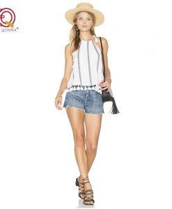 2018 New Fashion Summer  style sling women Blouse Shirt Sexy Tops casual Party Girls sleeveless chiffon Shirts striped 1