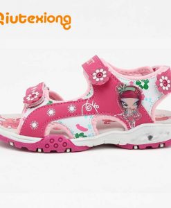 QIUTEXIONG Children Shoes Girls Sandals Summer Kids Sandals Beach Shoes Breathable Water sandalias Toddler Girls Pink Red Purple 1
