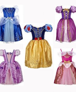 CNJiaYun Princess Girls Cinderella Dress Kids Clothing Snow Rapunzel Aurora Dress Christmas Costume For Girls Dresses