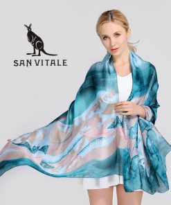 Scarves Women'S Silk Scarf Head Cover Lace Scarf Embroidery New Spring Floral Dress High Quality Women Fashion 2018 Luxury Brand