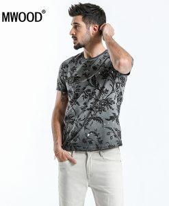 SIMWOOD 2018 Summer Fashion Printed T-Shirts Men 100% Pure Cotton Tops Tees Slim Fit High Quality Brand Clothing 180046