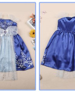 Summer Blue Cinderella Costume Dress Baby Girl Clothes Kids Party Cosplay Dress Children Clothing 2-7Years Girls Dress Vestidos 1