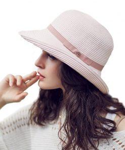 FS Womens Summer Hats 2017 Female Beach Straw Hat Wide Brim Floppy Fashion Sun Cap Casual Foldable Cappello Donna Estate  1