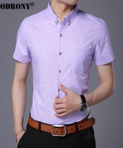 COODRONY Pure Cotton Casual Shirt Men Brand Clothing 2017 Summer New Arrival Solid Color Short Sleeve Slim Fit Shirt Homme S7702 1