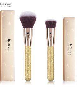 DUcare 2 PCS Face Makeup Brushes Set Powder Brush Foundation Brush Cosmetic Tools Kit 1