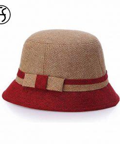 FS 2017 Women Bowknot Wide Brim Summer Casual Beach Hats Elegant CapsFor Woman Visors Cloche Cap Sun Hat