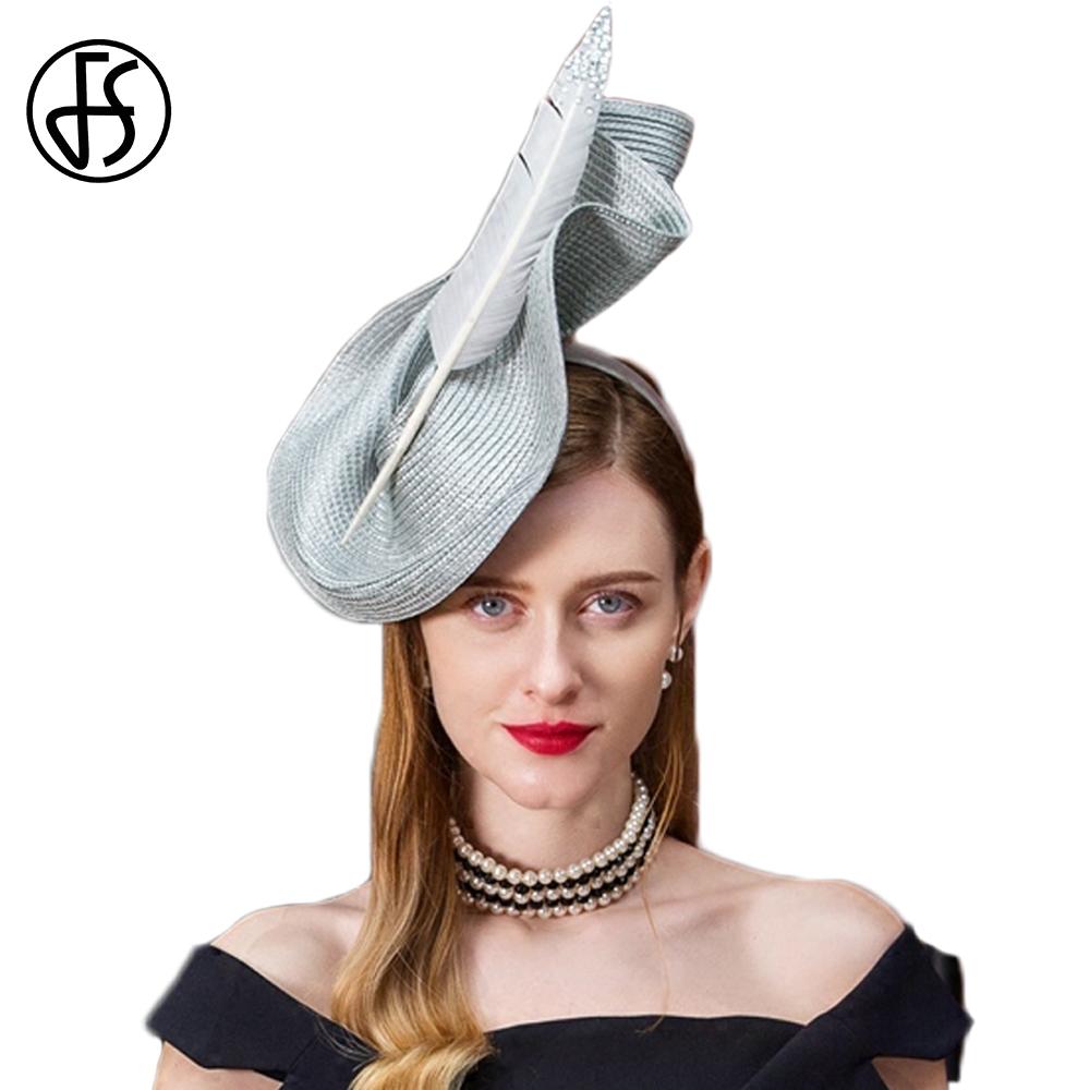 FS Fascinators Patchwork Pillbox Hat For Weddings Dress Women Vintage Fedora Ladies Elegant Feather Sinamay Base Bridal Hats