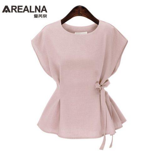 2018 Summer Chiffon Blouse Women Tops Bow Vintage shirts Ladies Office Korean Blouse Blusas mujer Plus Size 4XL vetement femme