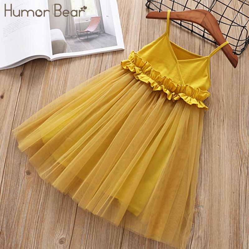 Humor Bear 2018 Girls Mesh Dress Princess Dress Tutu Party Gown Birthday Fashion Baby Clothes Children Summer Clothes