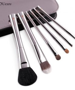 DUcare 6pcs makeup brush professional make up brush set with high quality luxury bag make up brushes with bag free shipping 1