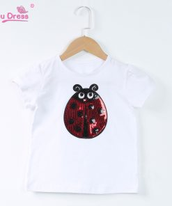 Summer Short Sleeves Boys Tops Teen Clothes Kids Shirts Kids Ladybug Girl Cartoon T-shirt For Girl Tees