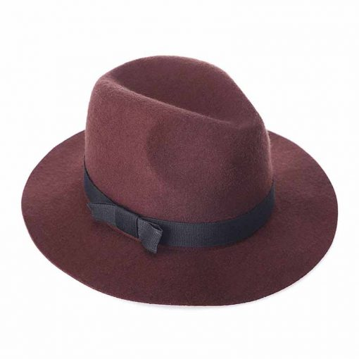FS Women Red Jazz Caps Wide Brim Wool Felt Fedora Panama Hat Black Elegant Bowknot Cap Fashion Casual Chapeau Womens Hats 4