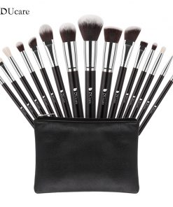 DUcare 15Pcs Makeup Brushes Set Goat Hair Synthetic Hair Make Up Brush Professional Cosmetics Kit with Bag 1