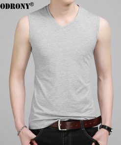 COODRONY Slim Fit Tank Top Men Sleeveless V-Neck T Shirt Men 2017 Spring Summer New Arrival Cotton T-Shirts All-match Tees S7651