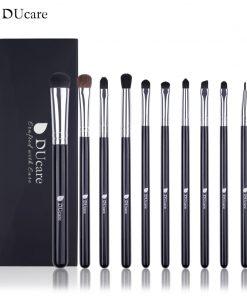 DUcare 10 PCS Brushes for Makeup Eyeshadow Eyeliner Blending Brush Eye Makeup Brush Set Pony Hair Cosmetic Tools Kit 1