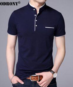 COODRONY Mandarin Collar Short Sleeve Tee Shirt Men 2017 Spring Summer New Top Men Brand Clothing Slim Fit Cotton T-Shirts S7645 1
