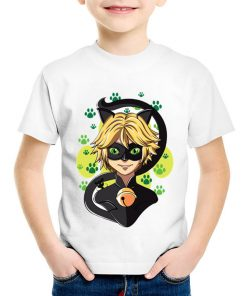 Cartoon Miraculous Ladybug Printed Children Funny T-shirts Kids Summer O-Neck Tees Boys/Girls Casual Tops Baby Clothes,HKP5149