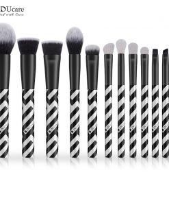 DUcare 12 PCS Makeup Brush Set Eyeshadow Goat Hair Powder Foundation Brush Make Up Brushes Synthetic Hair Cosmetic Tools Kit