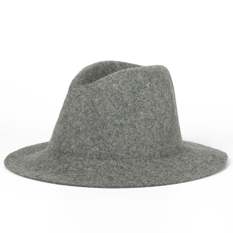 FS British Styles Black Fedora Hat For Women Fashion Wool Bowler Felt Hats Vintage Female Jazz Cap Chapeau Femme 1