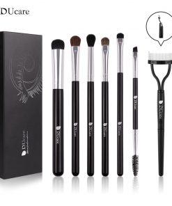 DUcare 7 PCS Makeup Brushes Eyeshadow Brush Set Foldable Eyelash Comb Eyebrow Cosmetics Tools Kit