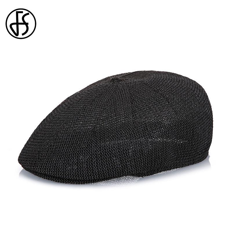 FS 2017 Summer Men Beret Hat Brown Caps Gatsby Casquette Gorras Casual Linen Peaked Cap Sun Visor Breathability Newsboy Hats