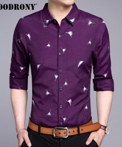 COODRONY Men Shirt Fashion Pattern Long Sleeve Camisas Masculina Mens Business Casual Shirts 2017 New Famous Brand Clothing 7714 1