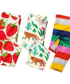 3pcs Girls Leggings Cotton Baby Trousers 2017 Brand Kids Leggings Girls Pants Skinny Print Pattern Children Legging Enfant 1