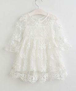 Humor Bear Girl Ball Gown Dress 2018 Toddler Girl Summer A-Line Lace Dress Princess Birthday Party Dress  1