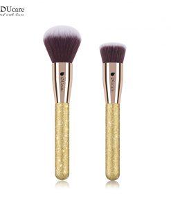 DUcare 2 PCS Face Makeup Brushes Set Powder Brush Foundation Brush Cosmetic Tools Kit