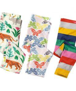 3pcs Girls Leggings Cotton Baby Trousers 2017 Brand Kids Leggings Girls Pants Skinny Print Pattern Children Legging Enfant