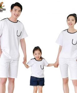 Family Matching clothes Father Son Mother Daughter T-shirt Family Look Baby Cotton Girl Boy Clothes Matching Family Clothing