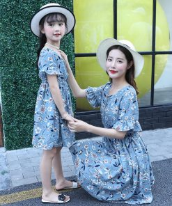 mother and daugther dress 2018 new mother & kids clothes mother and daughter matching dresses family look mom daughter clothes