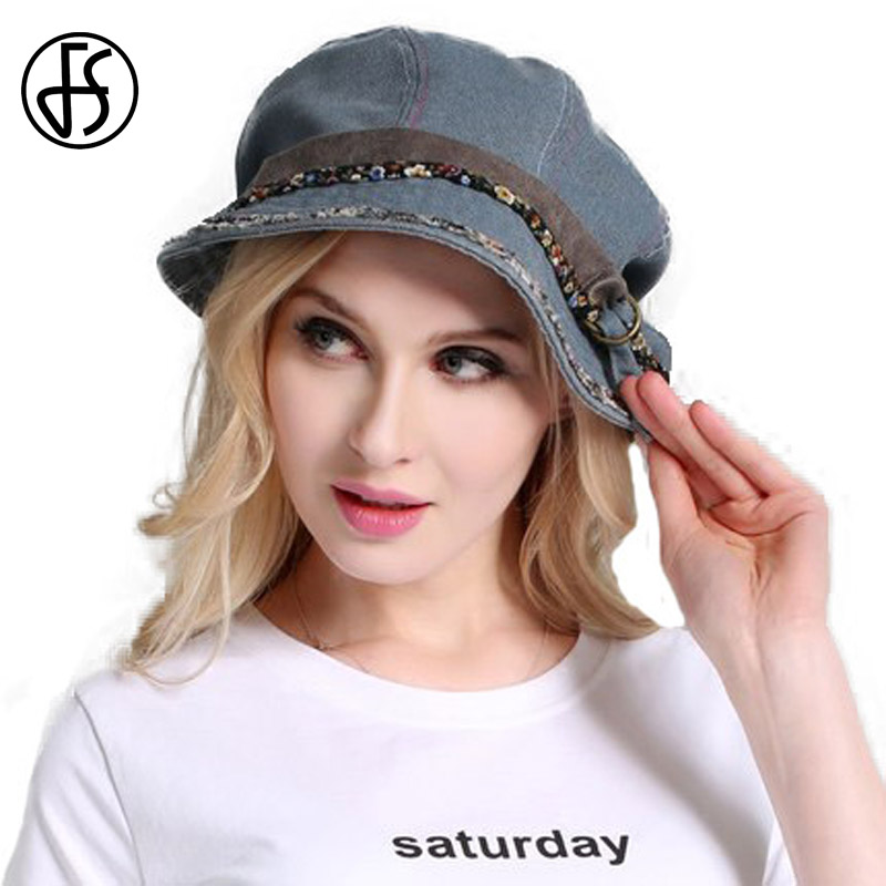 FS Vintage Woman Summer Foldable Sun Hat Gray Black Water Wash Old Cloth Cap Cotton Outdoor Wide Brim Uv Protect Hats With Belt