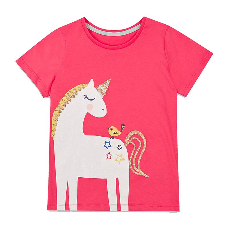 Baby Girls T-shirt Kids Clothes 2018 Brand Children Cartoon T shirts for Girls Costumes Unicorn Summer Girls Tops & Tees