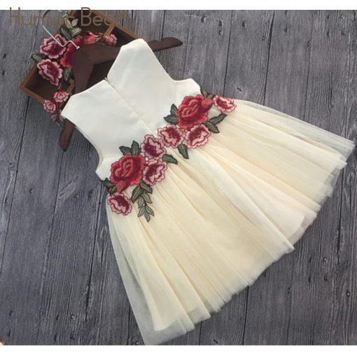 Humor Bear Girls Dresses 2018 Summer Style Girls Clothes Sleeveless Embroidery Design for Child kids Princess Dress 3