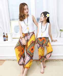 mother daughter dresses family matching clothes summer 2018 corresponding family fitted mom and daughter family set clothes  1