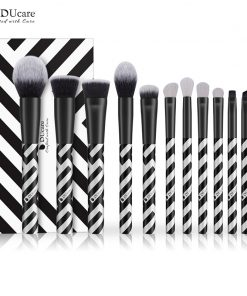 DUcare 12 PCS Makeup Brush Set Eyeshadow Goat Hair Powder Foundation Brush Make Up Brushes Synthetic Hair Cosmetic Tools Kit 1