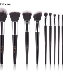 DUcare  makeup brushes 10pcs high quality brush set professional brand make up brushes with black bag beauty essential brushes 1