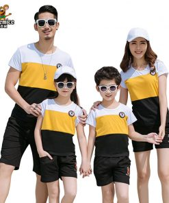 2018 New Summer Family Matching Outfits Father Boy Mother Daughter Cotton Shirts Shorts Pants set Plus سایز Family Clothing