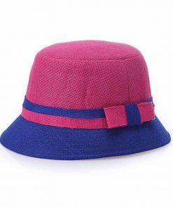 FS 2017 Women Bowknot Wide Brim Summer Casual Beach Hats Elegant CapsFor Woman Visors Cloche Cap Sun Hat 1