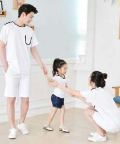 Family Matching clothes Father Son Mother Daughter T-shirt Family Look Baby Cotton Girl Boy Clothes Matching Family Clothing 1