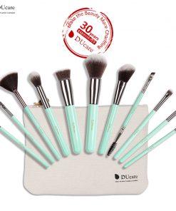 DUcare makeup brushes 11PCS professional brushes light green brush set high quality brush with bag portable make up brushes 1