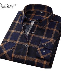 DAVYDAISY New Arrival Men Shirt Long Sleeved Assorted Classical Plaid Male Shirts Brand Clothing Casual Shirt Man DS011