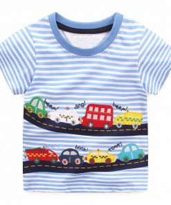 Boys Tops Summer 2018 Brand Children T shirts Boys Clothes Kids Tee Shirt Fille 100% Cotton Character Print Baby Boy Clothing 1