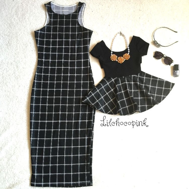 2018 New Mother Daughter Dresses Family Matching Outfits Popular FASHIOH Mother-daughter Lattice Plaid Vest Dress Mom Baby Dress 1